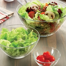 Salad bowls and serving dishes